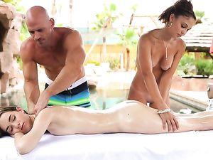 Best Massage Threesome Ever With Hardcore Fucking