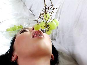 Facial Cumshot For A Pierced Nose Teen Cutie