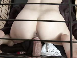 Belt Around The Neck Of A Kinky Teen Cock Whore