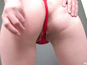 Pretty Girl Stripping And Screwing Her Massive Dildos