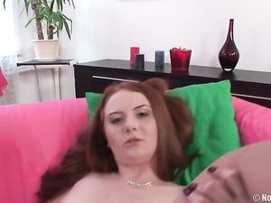Three Guys And A Teen Redhead Have A Hot Gangbang