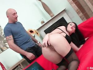 Anal Dildo Sex For The Bent Over Lingerie Girl