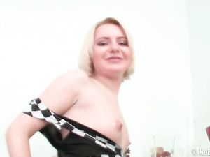 Giant Dildo Stretches The Cunt Of A Cute Blonde Teen