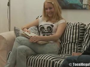 Beautiful Hardcore With A Teenage Blonde In Jeans