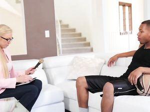 Slutty Blonde And The Black Guy Fucking Passionately