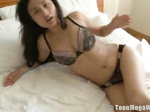 Beautiful And Busty Solo Asian Masturbates Erotically