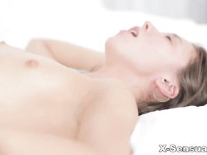 Slender Euro Teen Beauty Takes Him In Her Asshole