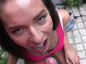 Panty Sex In Public With A Cum Swallowing Teen