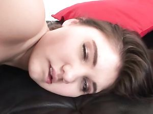 Cumshot On Her Gaping Teenage Asshole