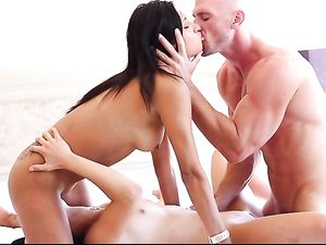 Dirty Friends Share A Big Cock And His Talented Tongue