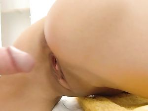 Cumshot All Over The Back Of A Massage Babe