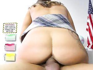 Biggest Cock In School Fucks The Slut In A Miniskirt