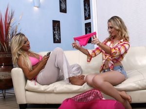 Cameron Dee Hooks Up With A Hot Blonde Lesbian Babe