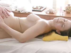 Buxom Oiled Up Teenage Girl Given A Hard Fucking