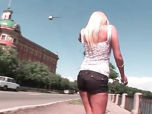 Braless Girl In Booty Shorts Loves Public Teasing Fun