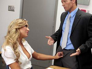 Slutty Blonde Schoolgirl Services Her Horny Teacher