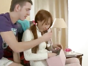 Asian Teen Twat Is Tight For His Hard Cock