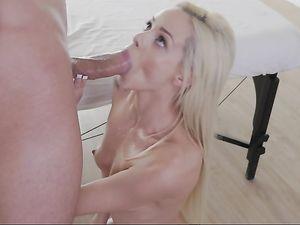 Masseur Fucks His Big Cock Into Tiny Elsa Jean