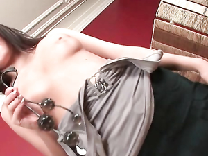 Finger Sucking Teenager Likes Toys In Her Asshole