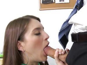 Riding Teacher's Long Dong In The Classroom