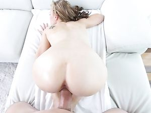 Tiny Blonde Fucked By A Big Throbbing Dong