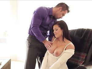 Flashing Her Big Tits And Getting Pounded