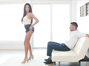 Oral Sex And Doggy Style Pounding With A Brunette