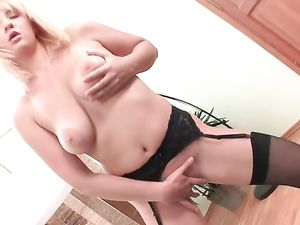 Big Tits Shaking While Getting Fucked By Two Cocks