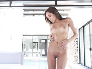 Mouth Of A Brunette Fucked Before Doggy Style